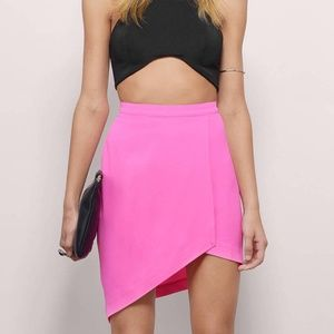 TOBI My Good Side neon Pink asymmetrical skirt NWT